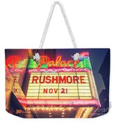 Vintage Neon Sign Over The Entrance To Historic Palace Theatre In Downtown La. Weekender Tote Bag