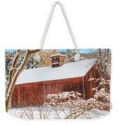 Vintage New England Barn Portrait Weekender Tote Bag by Bill Wakeley