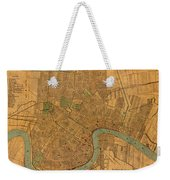 Vintage New Orleans Louisiana Street Map 1919 Retro Cartography Print On Worn Canvas Weekender Tote Bag