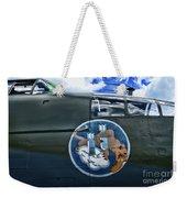 Vintage Nose Art B-25j Mitchell Weekender Tote Bag