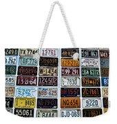 Vintage Number Plates Weekender Tote Bag