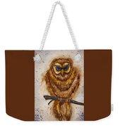 Vintage Owl Weekender Tote Bag