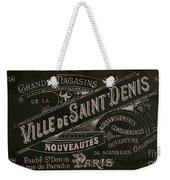 Vintage Paris Sign Weekender Tote Bag