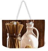 Vintage Pasta  Weekender Tote Bag by Amanda Elwell
