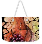 Vintage  Pear And Grapes Fresco   Weekender Tote Bag