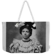 Vintage Photo Of Young Pretty Colored Lady Weekender Tote Bag