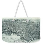 Vintage Pictorial Map Of Lynn Massachusetts - 1916 Weekender Tote Bag