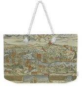 Vintage Pictorial Map Of Lyon France - 1555 Weekender Tote Bag