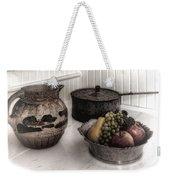 Vintage Pitcher, Pan, And Fruit Bowl Weekender Tote Bag