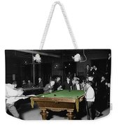 Vintage Pool Hall Weekender Tote Bag