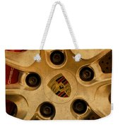 Vintage Porsche Wheel Logo Weekender Tote Bag