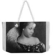 Vintage Portrait Photo Of Young Pretty Colored Lady Weekender Tote Bag