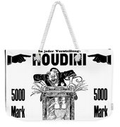 Vintage Poster Advertising A Performance By Houdini, 1922 Weekender Tote Bag