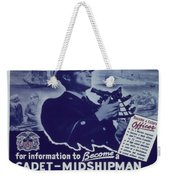 Vintage Poster - Be A Ship's Officer Weekender Tote Bag