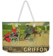 Vintage Poster Bicycle Advertisement Weekender Tote Bag