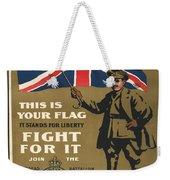 Vintage Poster - This Is Your Flag Weekender Tote Bag