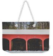 Vintage Red Carriage Barn Lyme Weekender Tote Bag