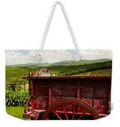 Vintage Red Wagon Weekender Tote Bag