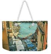 Vintage Riomaggiore Cinque Terre Italy Weekender Tote Bag