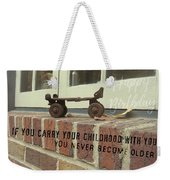 Vintage Roller Skate Quote Weekender Tote Bag