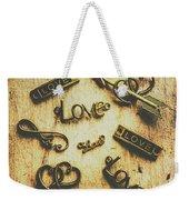 Vintage Romance Weekender Tote Bag