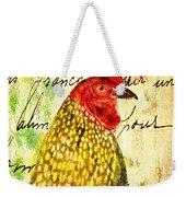 Vintage Rooster Portrait    Weekender Tote Bag