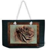 Vintage Rose On Old Wall 2 By Kaye Menner Weekender Tote Bag