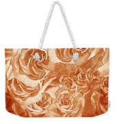 Vintage Rose Petals Abstract  Weekender Tote Bag