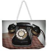 Vintage Rotary Phone Weekender Tote Bag