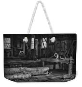Vintage Sawmill In Black And White Weekender Tote Bag