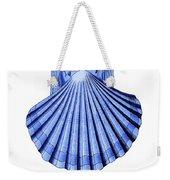 Vintage Scallop Shell Blue Weekender Tote Bag