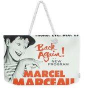 Vintage Show Poster Marcel Marceau Weekender Tote Bag