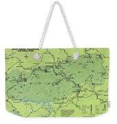 Vintage Smoky Mountains National Park Map Weekender Tote Bag
