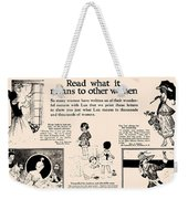 What It Means To Other Women Vintage Soap Ad Weekender Tote Bag
