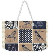 Vintage Songbird Patch 2 Weekender Tote Bag