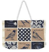 Vintage Songbirds Patch Weekender Tote Bag