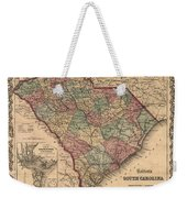 Vintage South Carolina Map Weekender Tote Bag