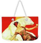 Vintage Spanish Liquor Ad, Flamenco Dancer, Polar Bear Weekender Tote Bag