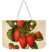 Vintage Strawberries Weekender Tote Bag