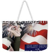 Vintage Style Pinup Recruiting Poster Weekender Tote Bag