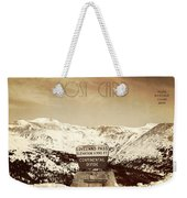Vintage Style Post Card From Loveland Pass Weekender Tote Bag by Juli Scalzi