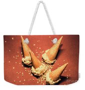 Vintage Summer Ice Cream Spill Weekender Tote Bag