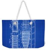 Vintage Surf Board Patent Blue Print 1950 Weekender Tote Bag