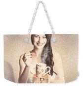Vintage Tea Advertisement Pin-up Weekender Tote Bag