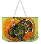 Vintage Thanksgiving Card Weekender Tote Bag