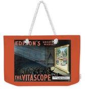 Vintage Thomas Edison Print - The Vitascope Weekender Tote Bag