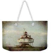 Vintage Thomas Point Shoal Lighthouse Weekender Tote Bag