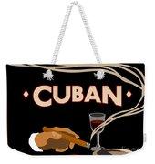 Vintage Tobacco Cuban Cigars Weekender Tote Bag