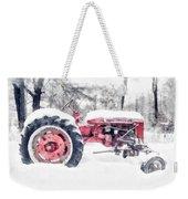 Vintage Tractor Christmas Weekender Tote Bag