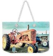 Vintage Tractors Acrylic Weekender Tote Bag
